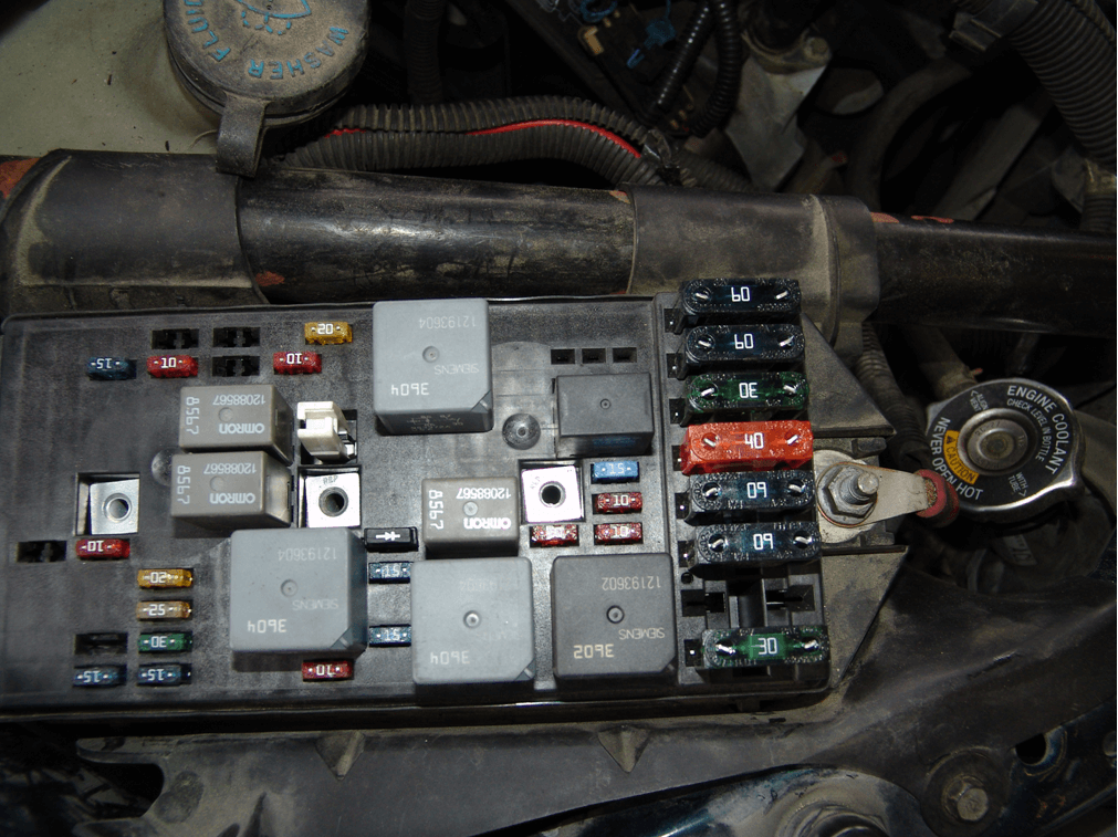 1998 Pontiac Montana Fuel Pump Fuse on 1999 cadillac deville diagram