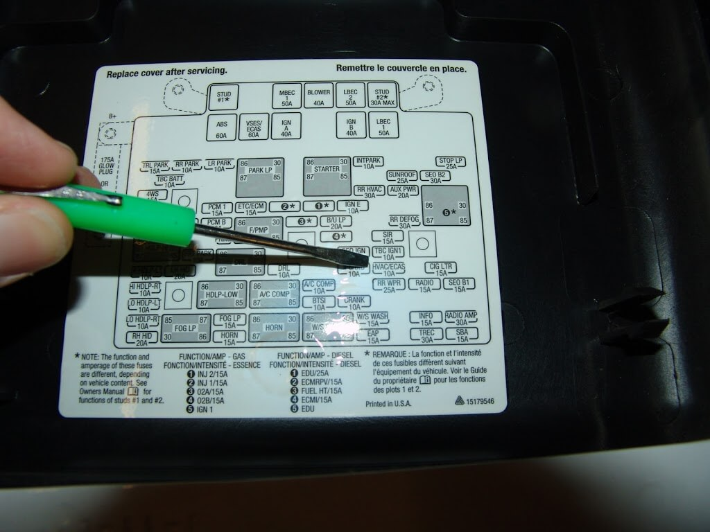 Hvac Actuator Recalibration Procedure on 2005 ford excursion fuse panel diagram
