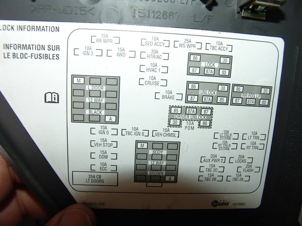 2005 Chevrolet Silverado Adding Factory on 2000 chevy express fuse box diagram